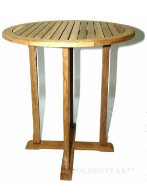 Teak Bar Table Round 36 inch