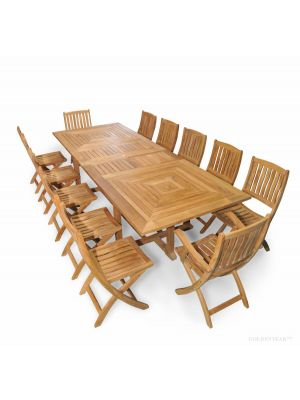 Nantucket Dining Set Seats 12 |  Premium Teak