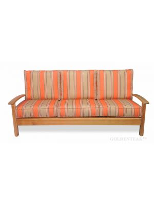 Teak Deep Seating Sofa, Chappy Collection with cushions
