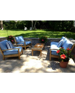 Teak Deep Seating Conversation Set - Marblehead MA-customer photo