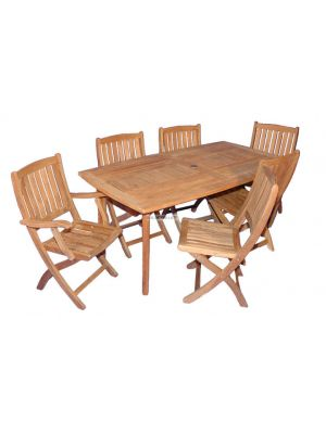 Teak Outdoor Dining Set Manhattan
