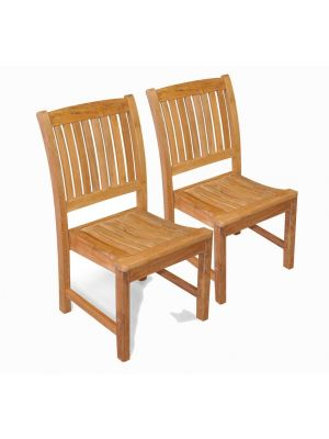 Teak Side Chair  Millbrook without arms PAIR