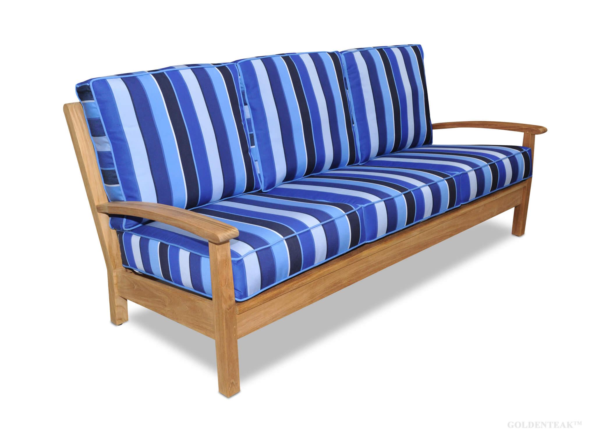 Teak Deep Seating Sofa, Chappy Collection | Teak Wood Furniture