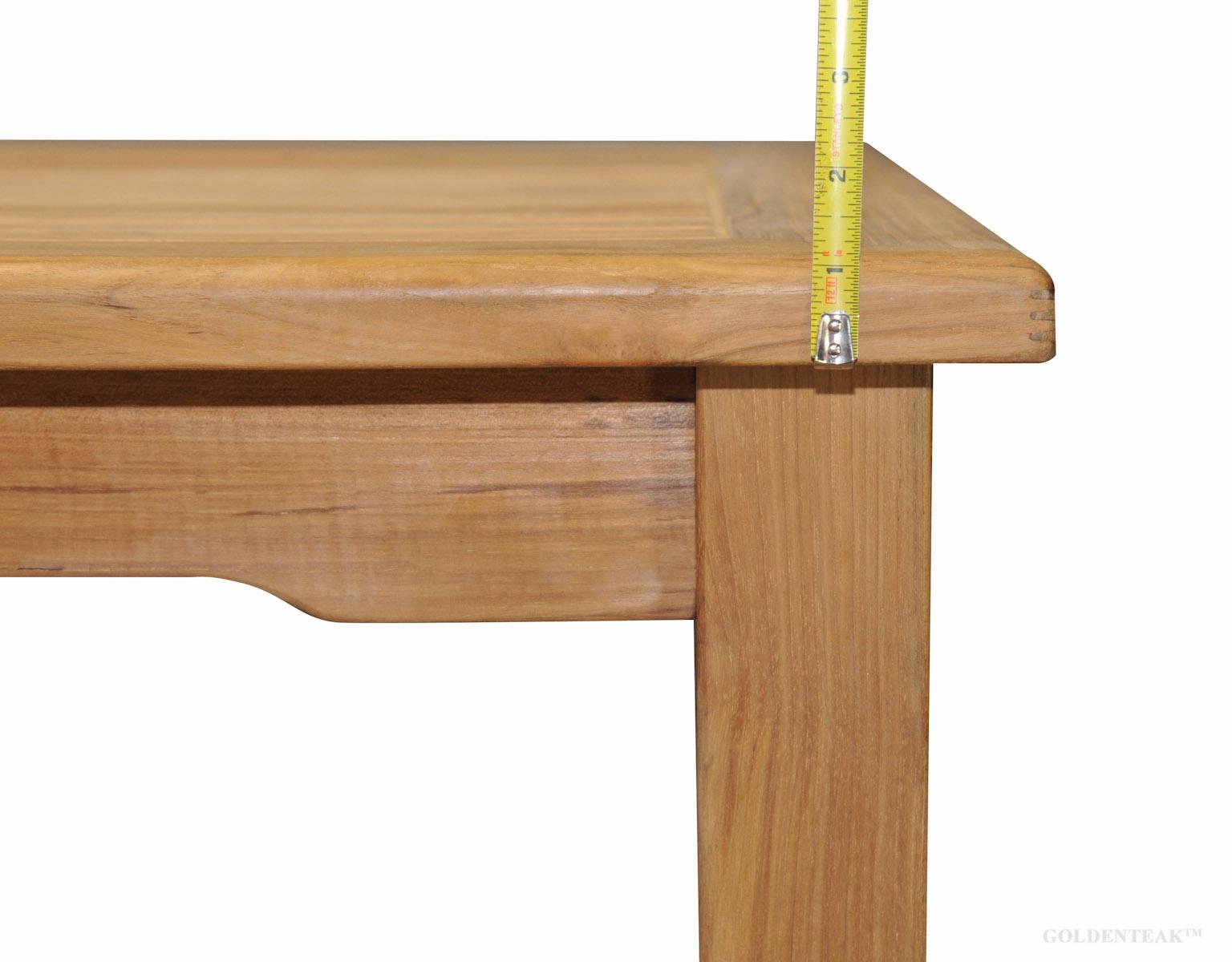 Goldenteak Harvest Dining Table Leg Thickness Teak Top
